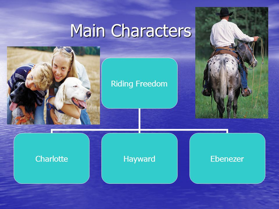 Main Characters Main Characters Riding Freedom CharlotteHaywardEbenezer
