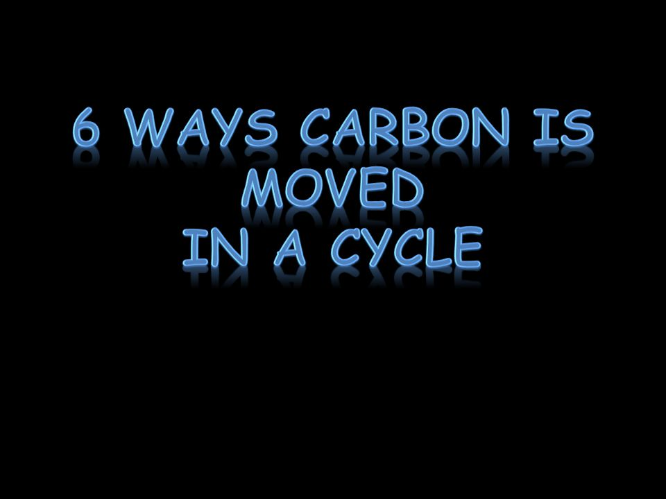 1.Carbon moves from the atmosphere to plants In the atmosphere, carbon is attached to oxygen in a gas called CO 2.