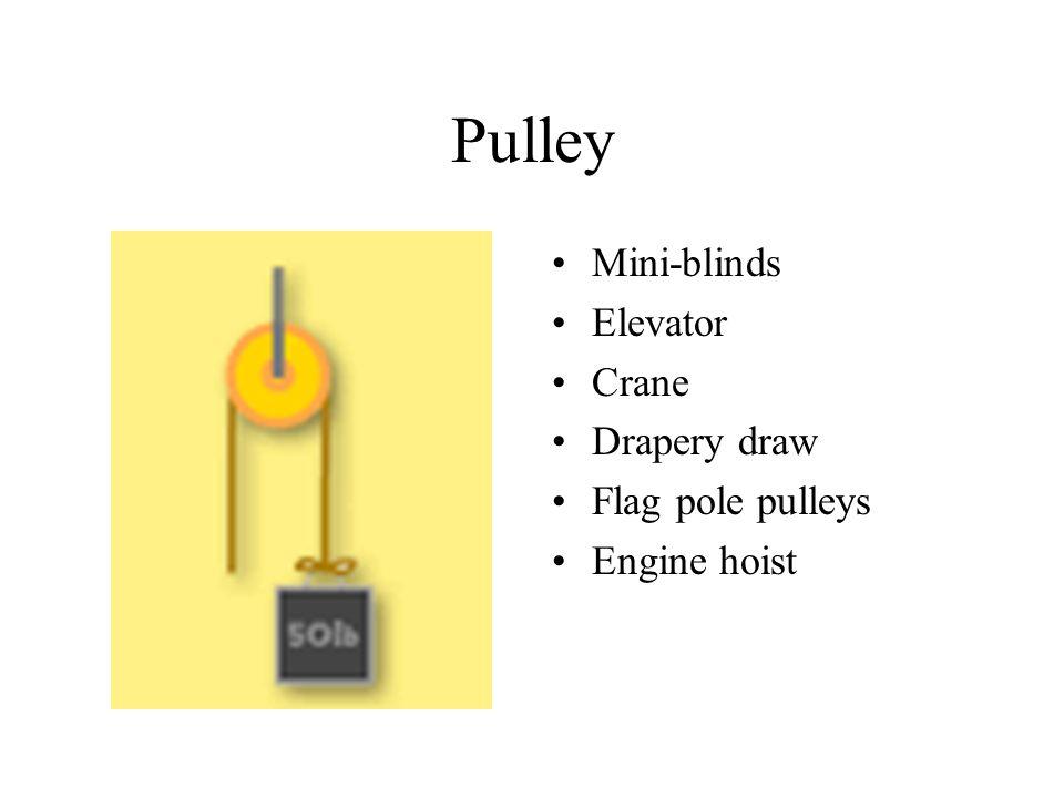 Pulley Mini-blinds Elevator Crane Drapery draw Flag pole pulleys Engine hoist
