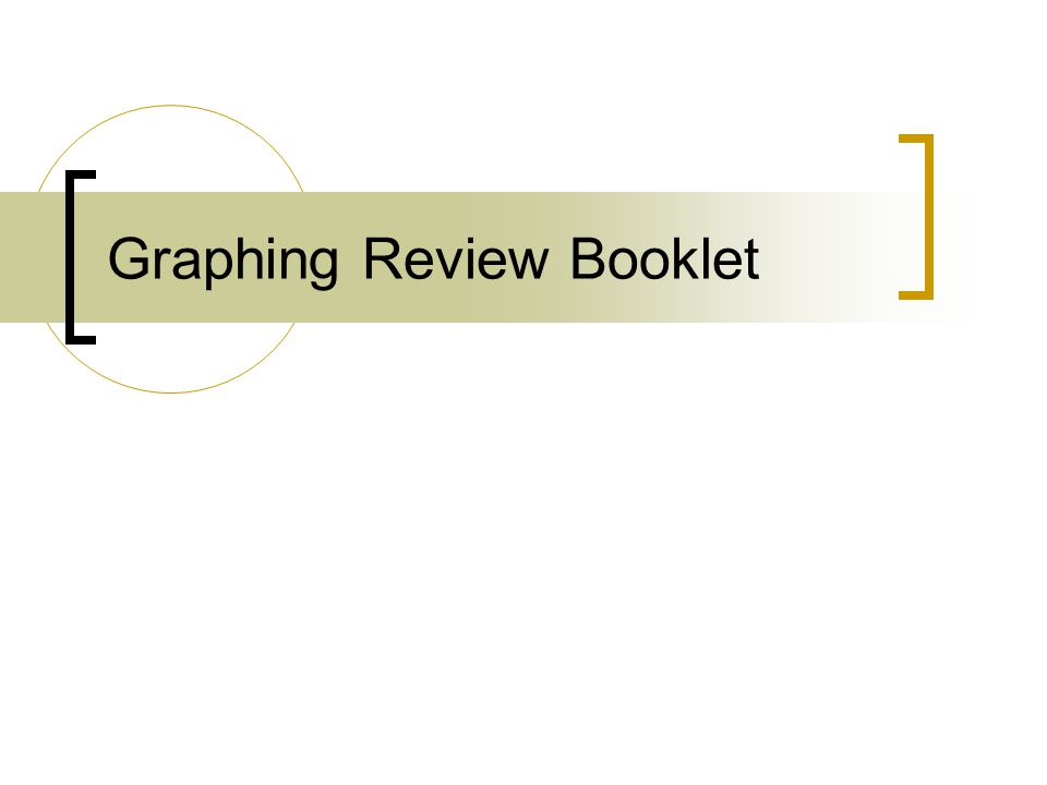 Graphing Review Booklet