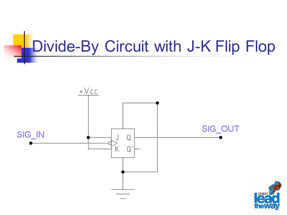 Divide-By Circuit with J-K Flip Flop