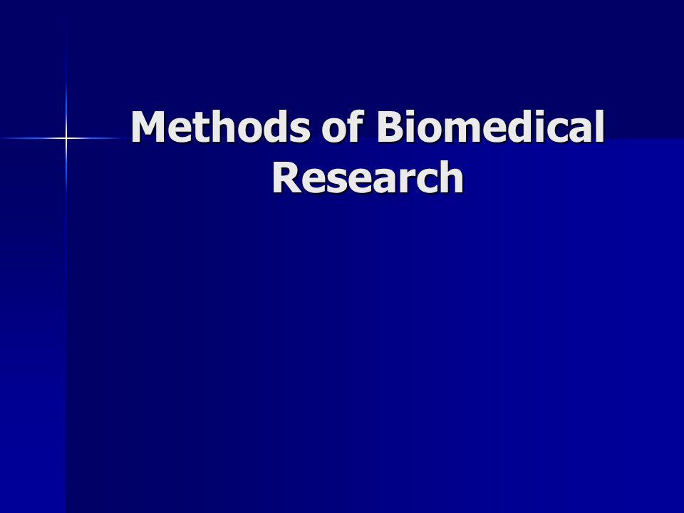 Methods of Biomedical Research