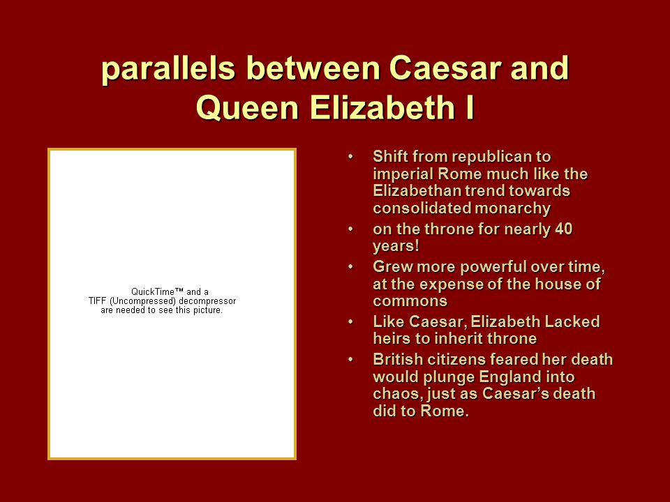 Shakespeare's Motivations: Why Caesar? Absolute monarchy did not allow for political discourseAbsolute monarchy did not allow for political discourse