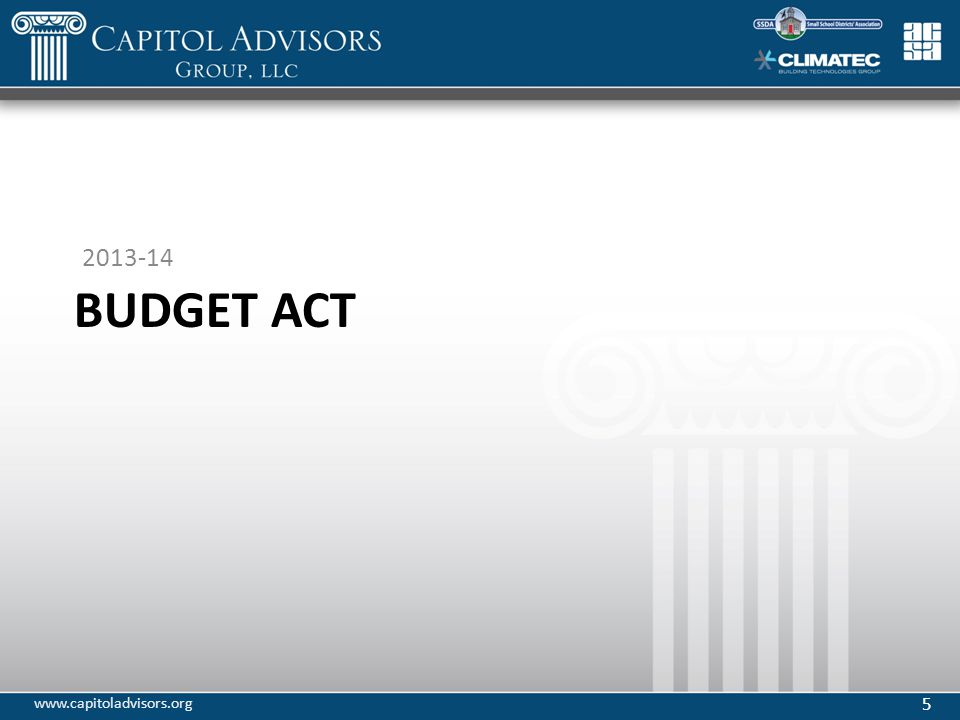BUDGET ACT