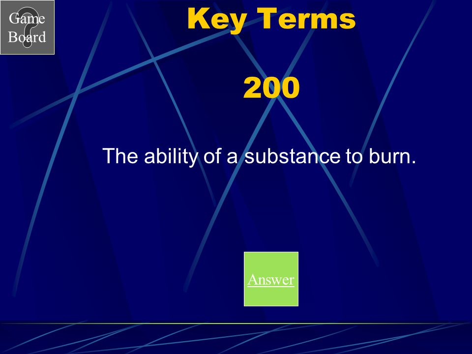 Game Board Key Terms 100A What is the boiling point? Score Board