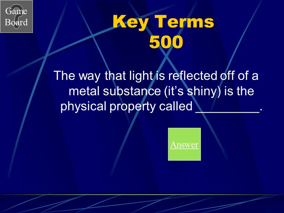 Game Board Key Terms 400A What is volume? Score Board