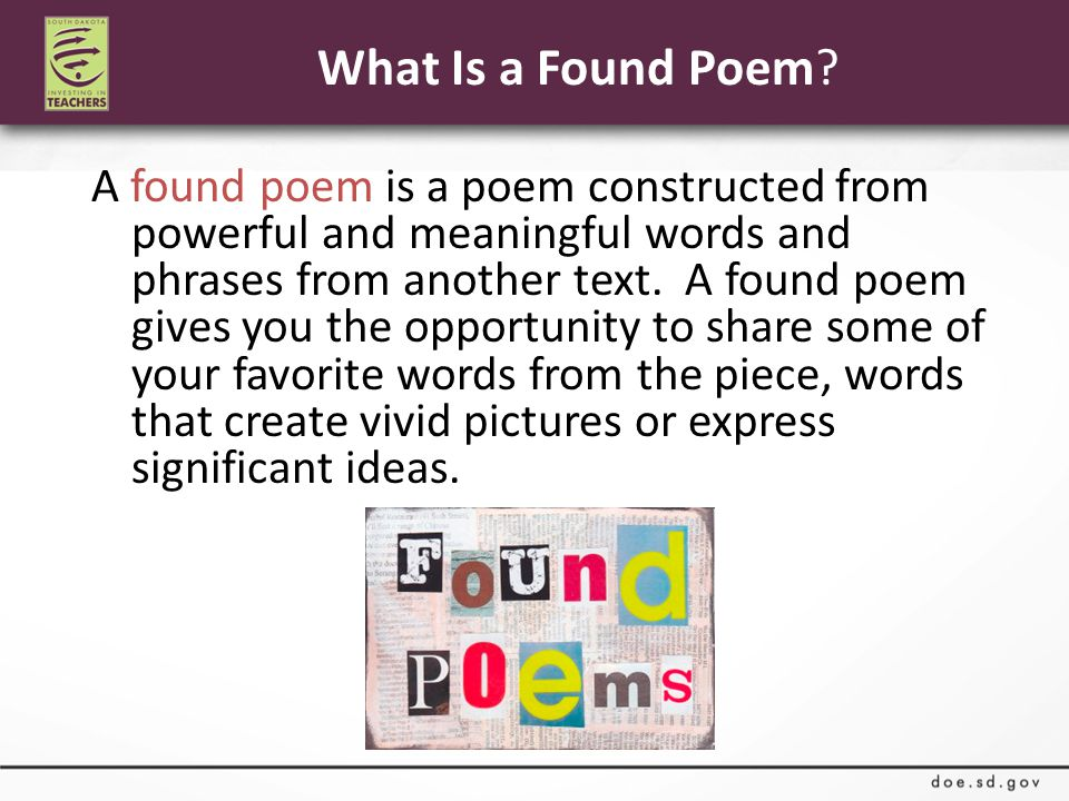What Is a Found Poem.