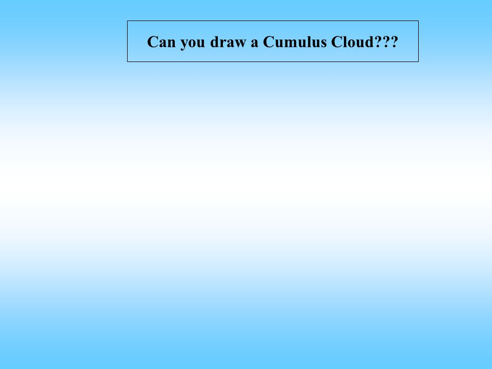 Can you draw a Cumulus Cloud