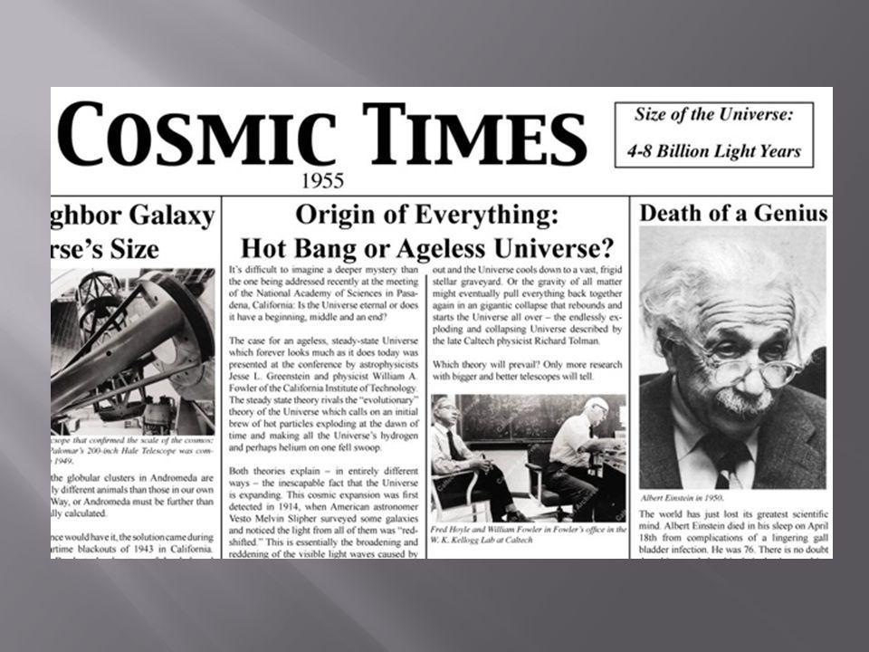  [show clip of 1955 Cosmic Times showing Origin of Everything article ]