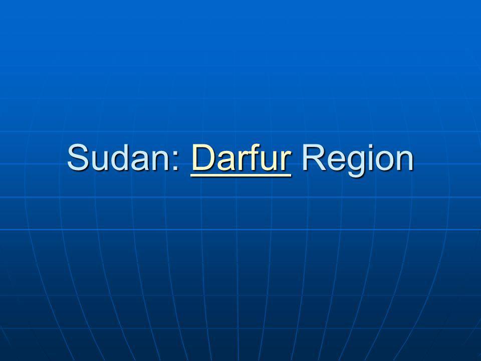 Sudan: Darfur Region Darfur