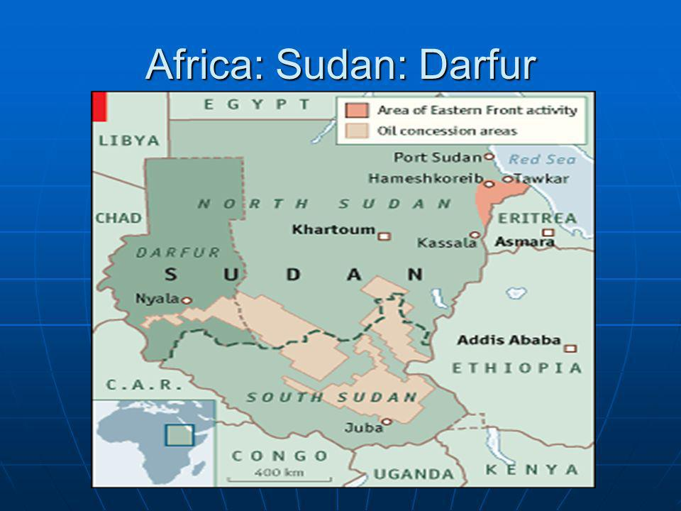 Sudan Background Sudan British Colony Sudan British Colony Northern and Southern Sudan treated differently Northern and Southern Sudan treated differently North North Arab MuslimArab Muslim nomadic herdersnomadic herders desertdesert South South Black-African Black-African mainly Christians and traditional religionsmainly Christians and traditional religions tropicaltropical