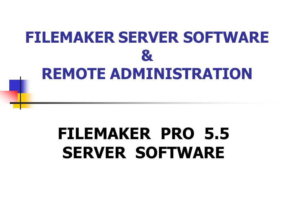 ACCESSING HOSTED DATABASES THROUGH THE FILEMAKER APPLICATION In Filemaker Server Version 5.0, you would access databases by going through File, Open Host.