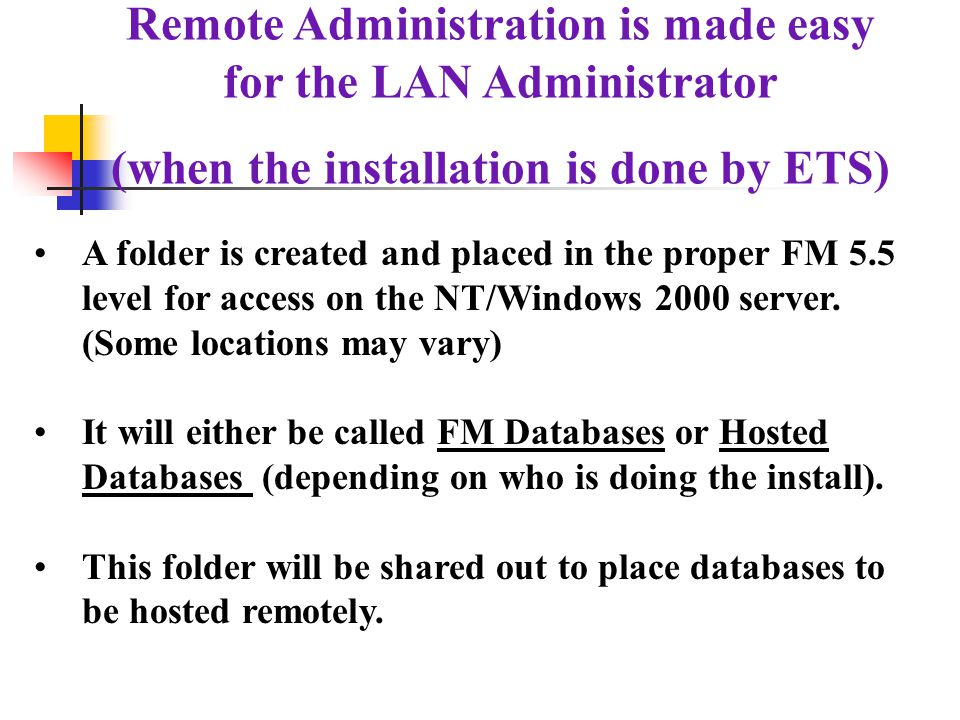 Check the services on the NT to see if the Filemaker Service has been started.