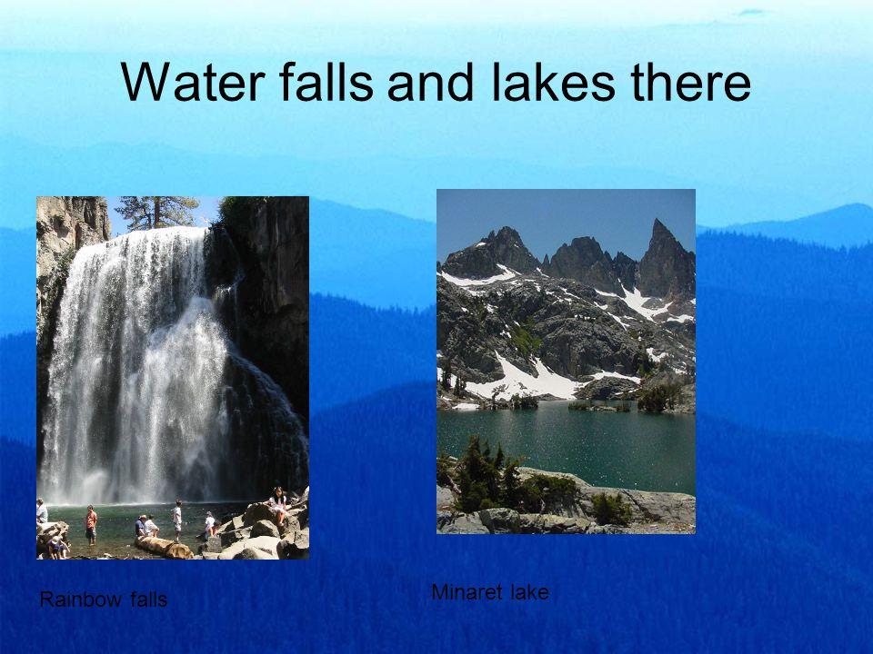 Water falls and lakes there Rainbow falls Minaret lake