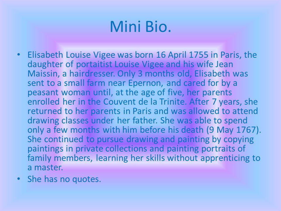 Mini Bio.
