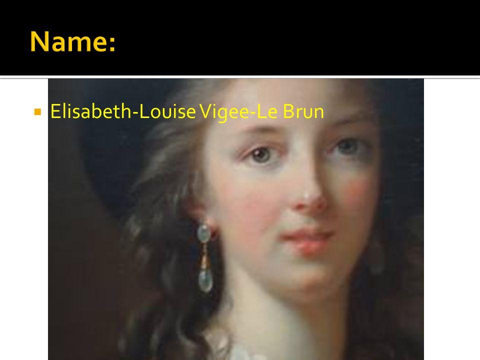  Elisabeth-Louise Vigee-Le Brun
