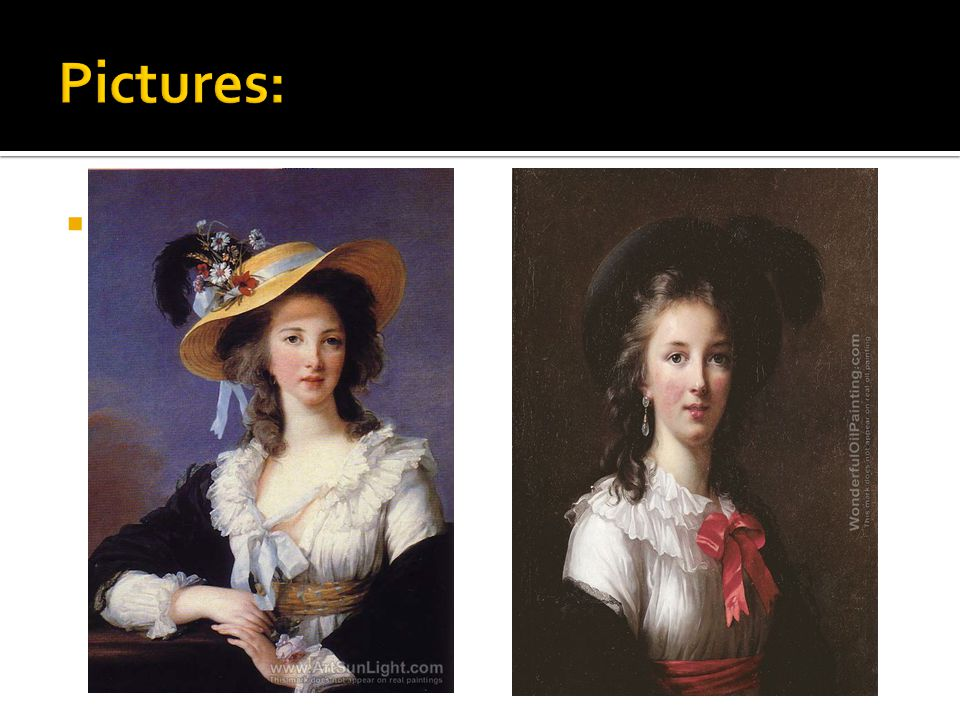  She painted portraits of many famous people, including more than thirty portraits of queen Marie Antoinette and her family.