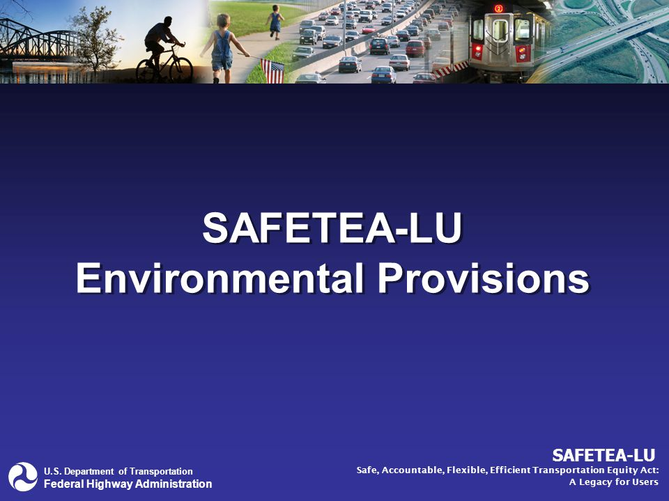 42 Safety Stand alone planning factor Strategic Highway Safety Plan (SHSP) –Includes policies, priorities, and strategies to improve the safety of the transportation system –States are required to develop the SHSP after consultation with stakeholders, including MPOs and RPOs –Goals and objectives of approved SHSPs must be reflected in state and metro transportation plans Planning for SAFETEA-LU: Key Planning Provisions Planning Factors