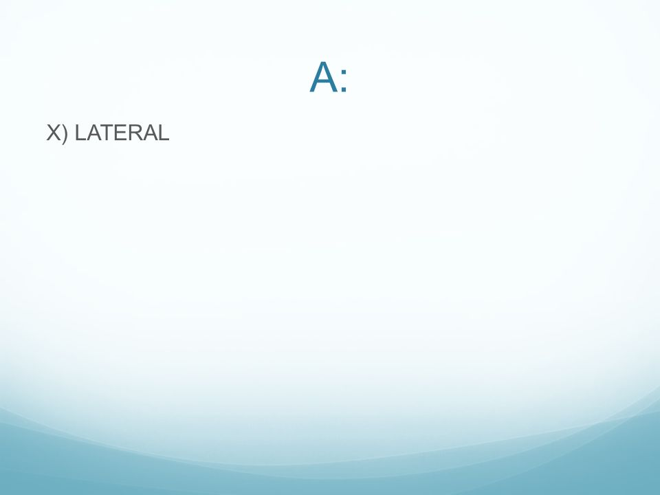 A: X) LATERAL