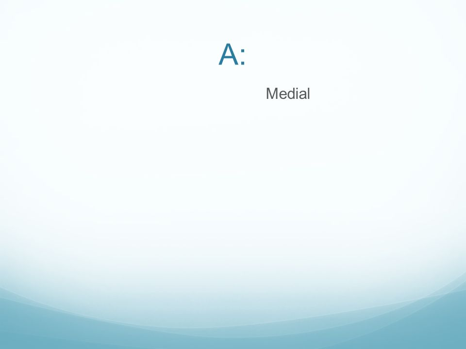 A: Medial