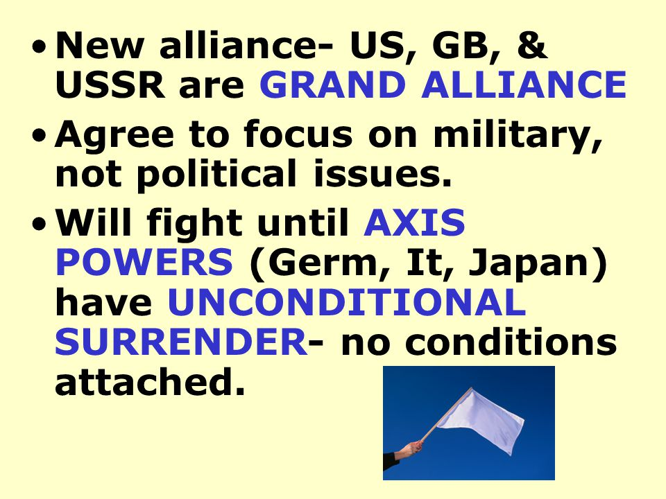 Japan took over much of SE Asia & W Pacific US declares war Dec. 8 Joins the ALLIES Hitler declared war on US
