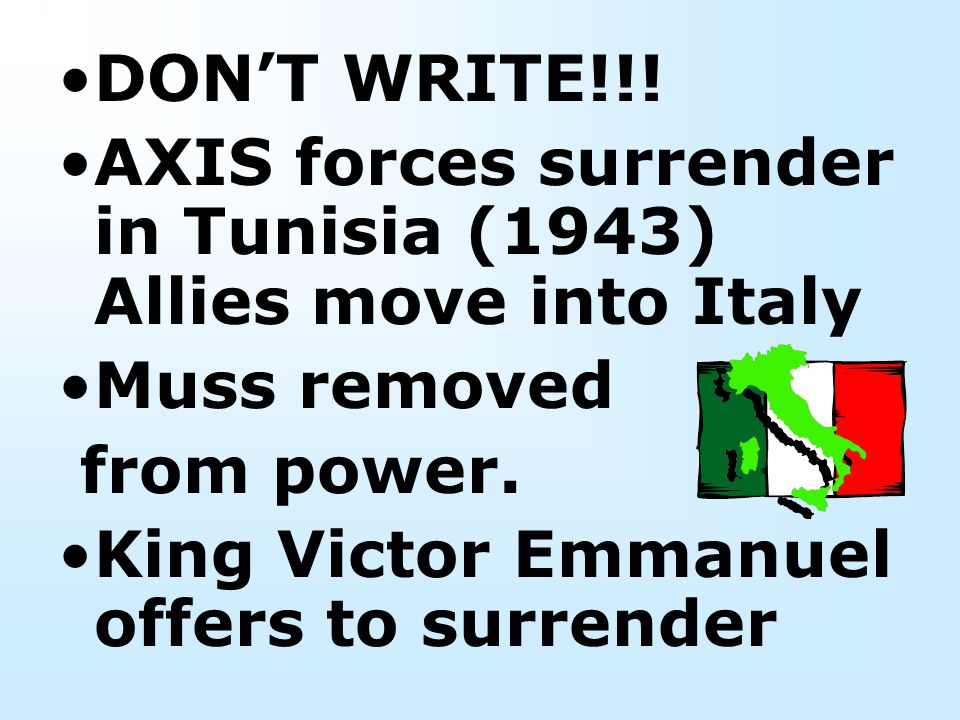 "Winston Churchill calls Italy ""Soft underbelly of Europe """