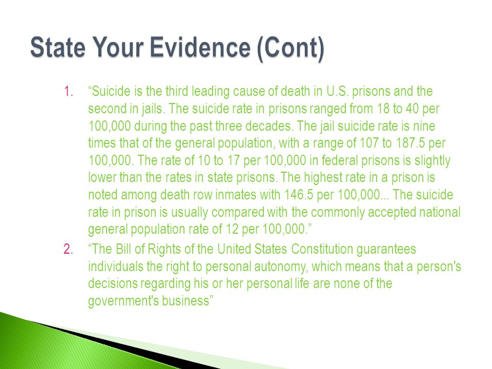 1. Suicide is the third leading cause of death in U.S.