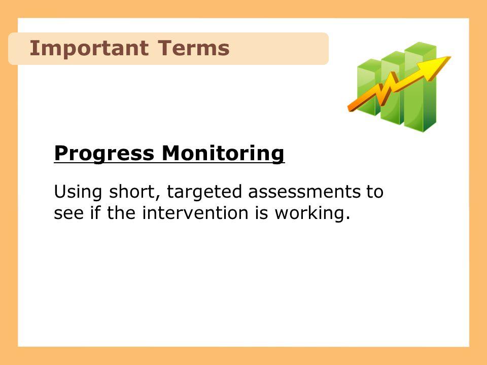 Examples of Progress Monitoring