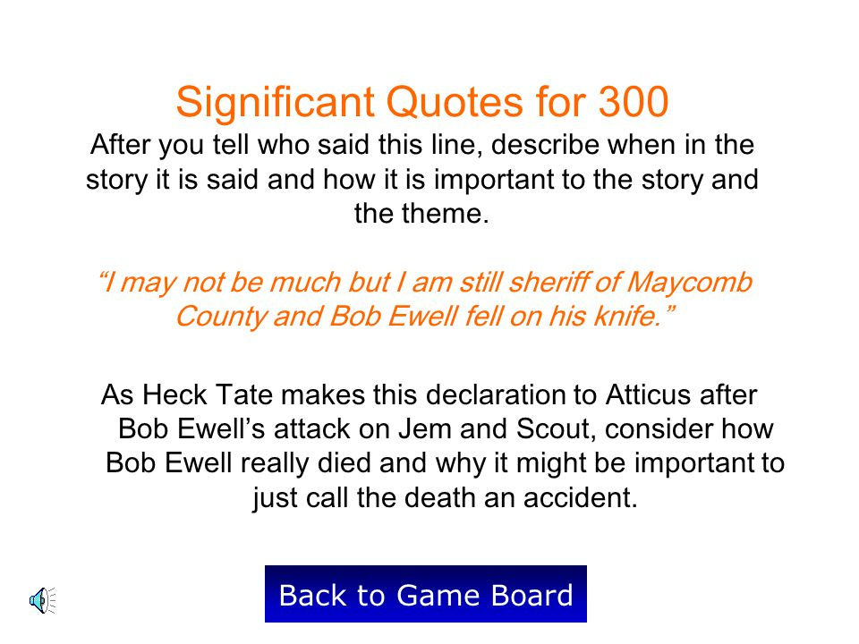 Significant Quotes for 300 After you tell who said this line, describe when in the story it is said and how it is important to the story and the theme.