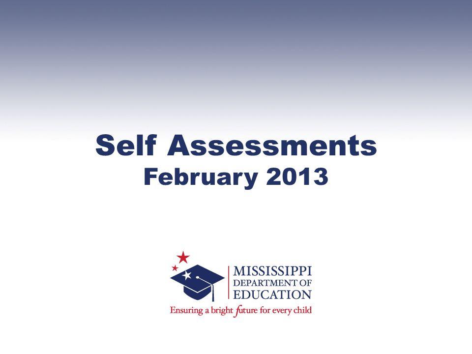 Self Assessments February 2013