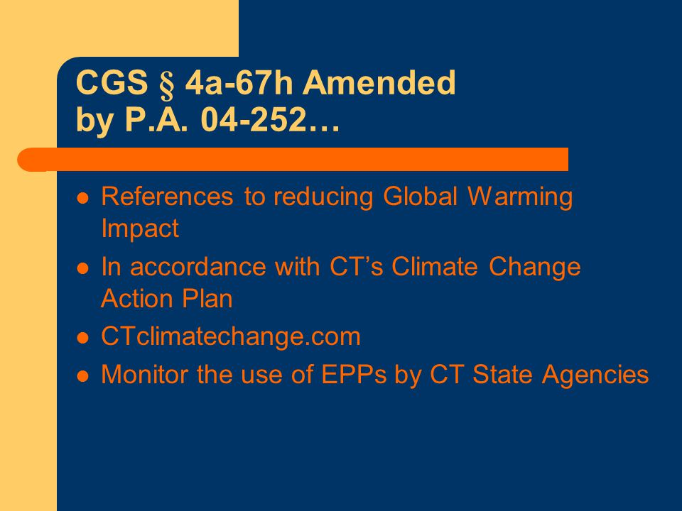 What Products Have EPA CPG Specifications.