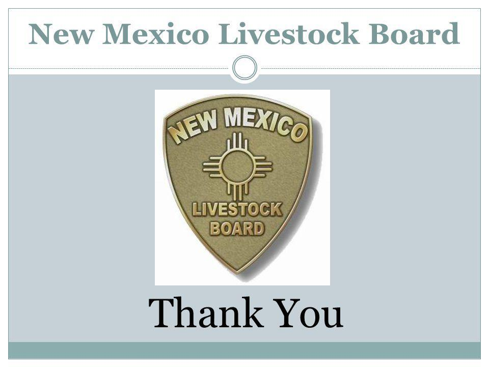 New Mexico Livestock Board Thank You
