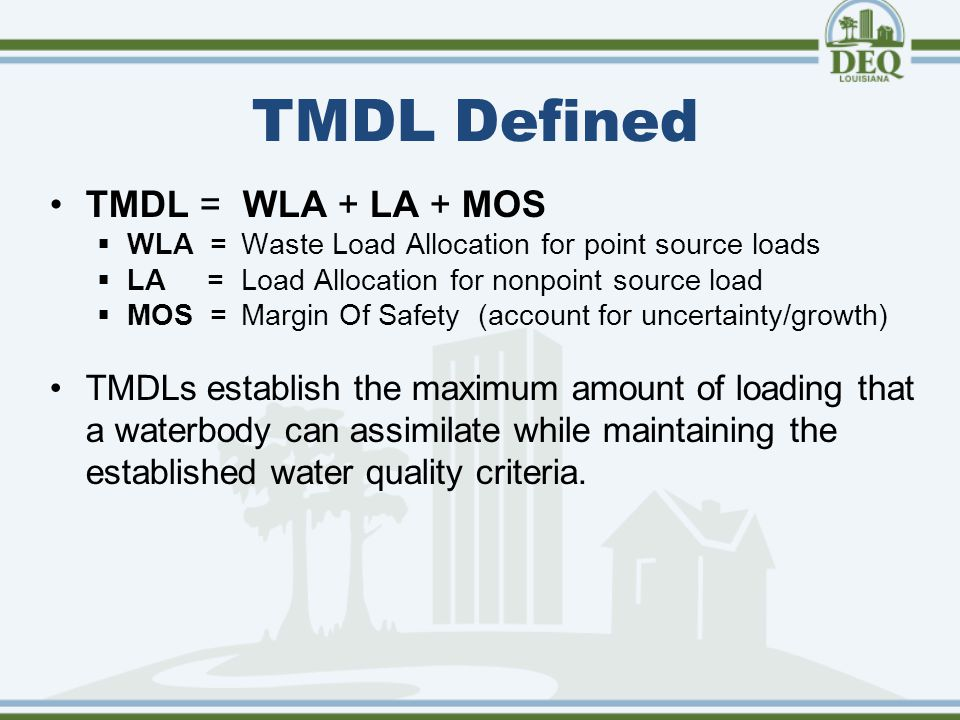 Upcoming TMDL Changes
