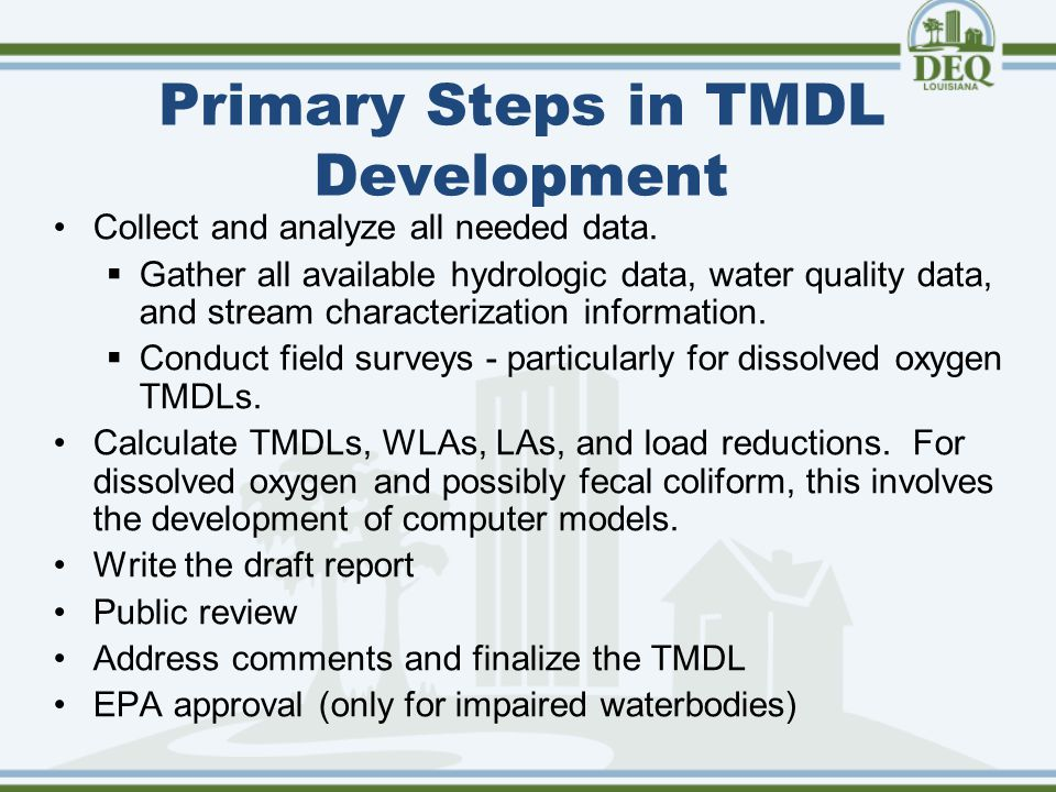 LAR04 Requires… If a TMDL allocation has been assigned for specific pollutants, which are identified as impairments attributed to discharges from regulated MS4s, then the permittee must modify the storm water management program to implement the TMDL within six months of the TMDL's approval or as otherwise specified in the TMDL.