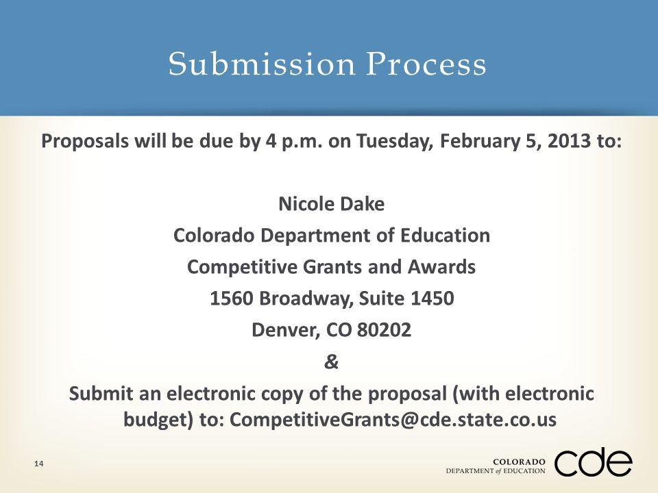 Proposals will be due by 4 p.m.
