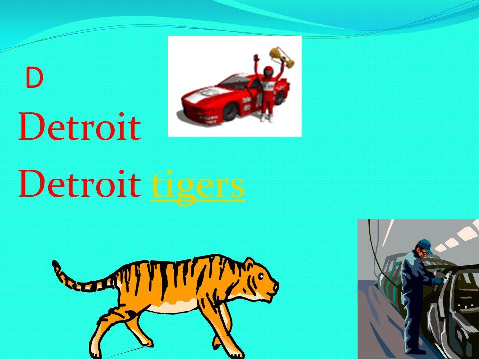 D Detroit Detroit tigerstigers