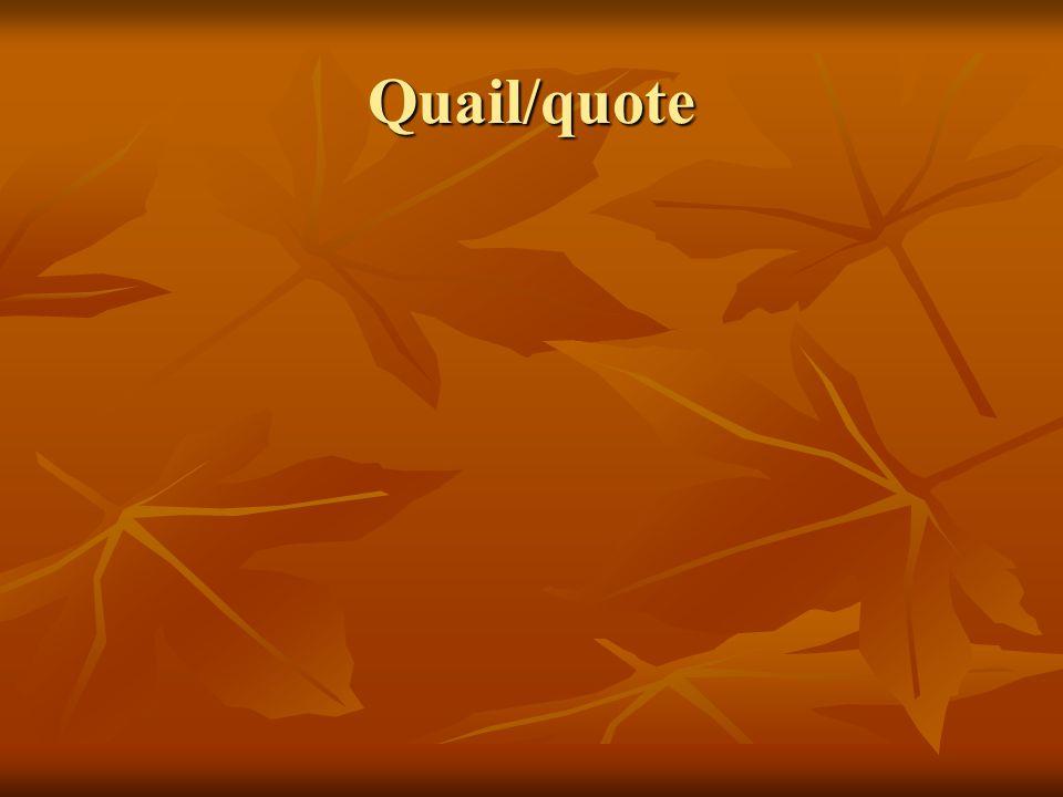 Quail/quote