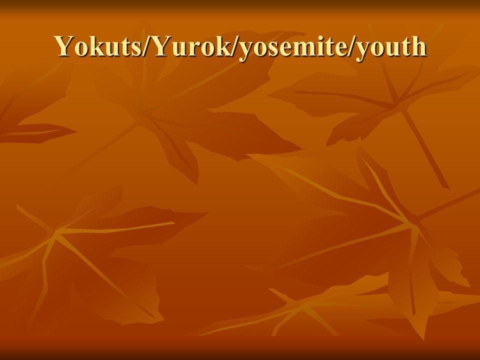 Yokuts/Yurok/yosemite/youth