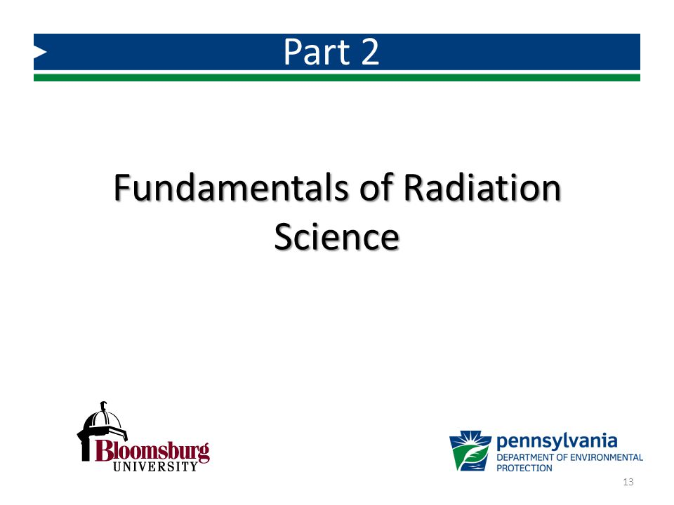 Fundamentals of Radiation Science Part 2 13