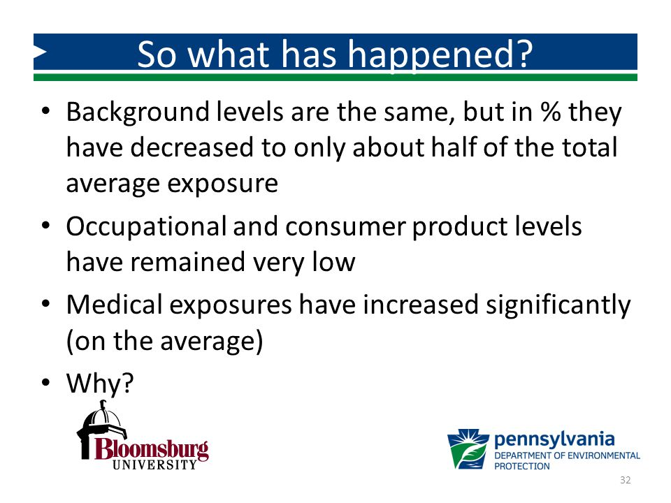 Background levels are the same, but in % they have decreased to only about half of the total average exposure Occupational and consumer product levels