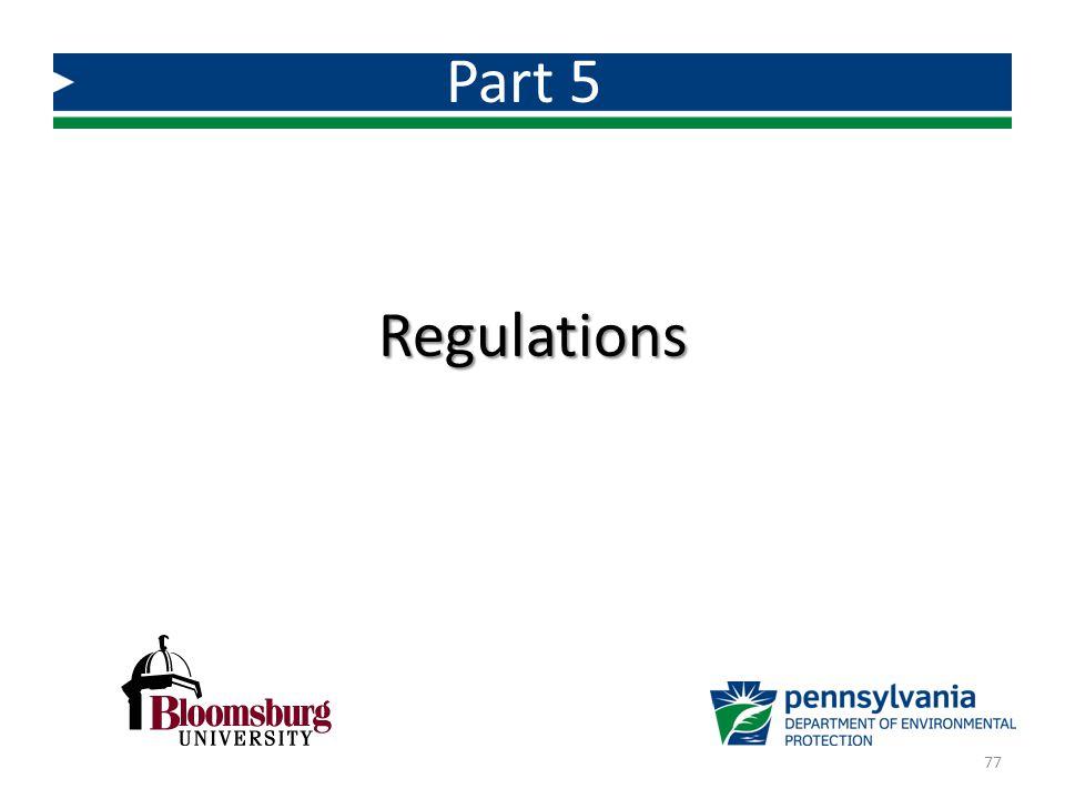 Regulations Part 5 77