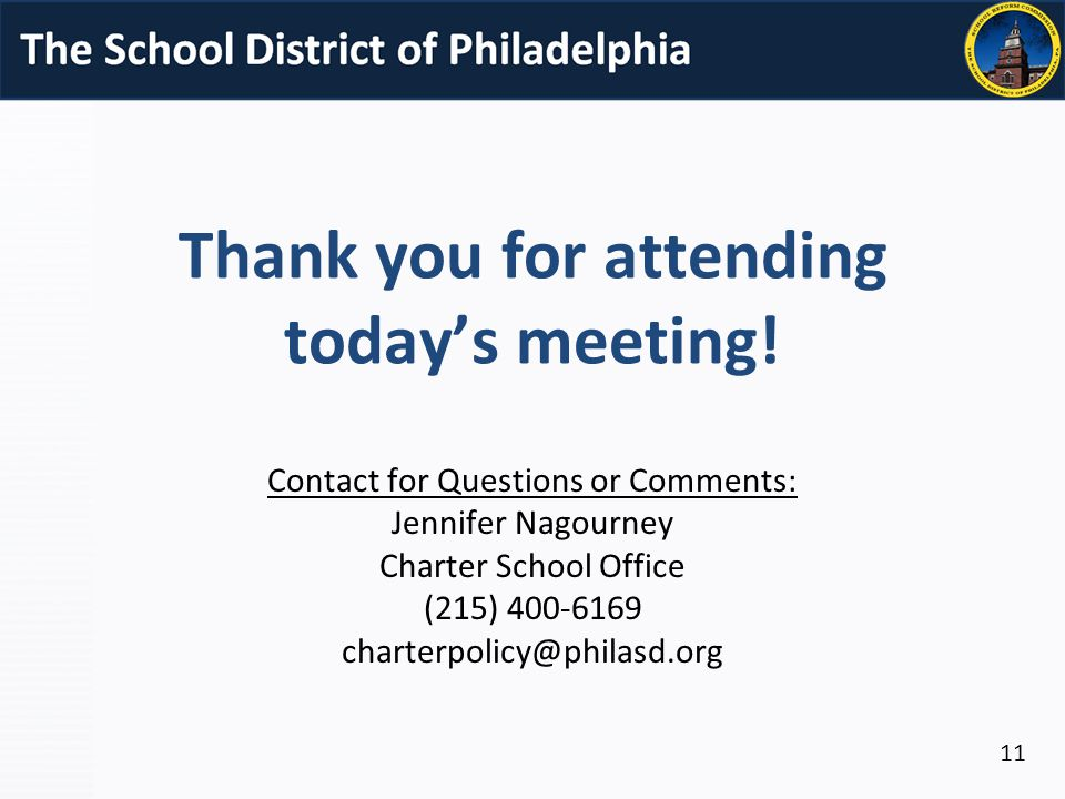 Thank you for attending today's meeting.