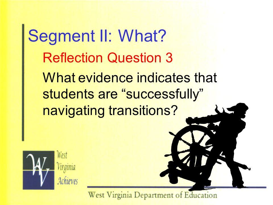 Segment II: What.