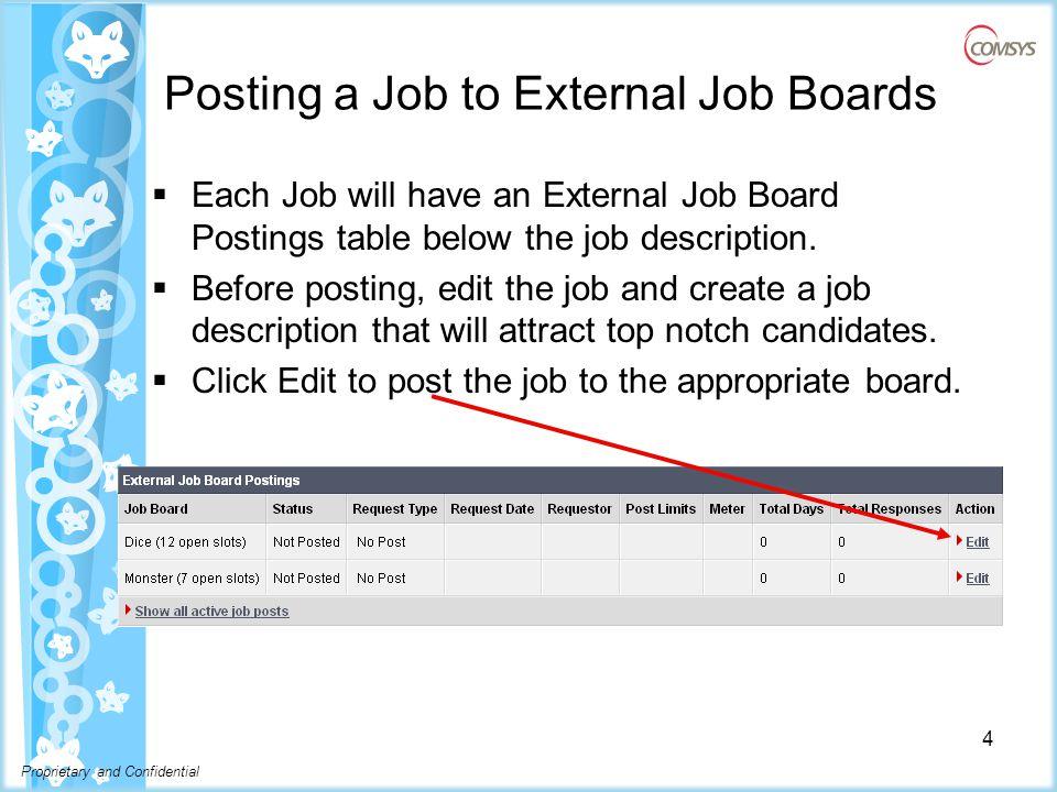 Proprietary and Confidential Job Posting Confirm 5