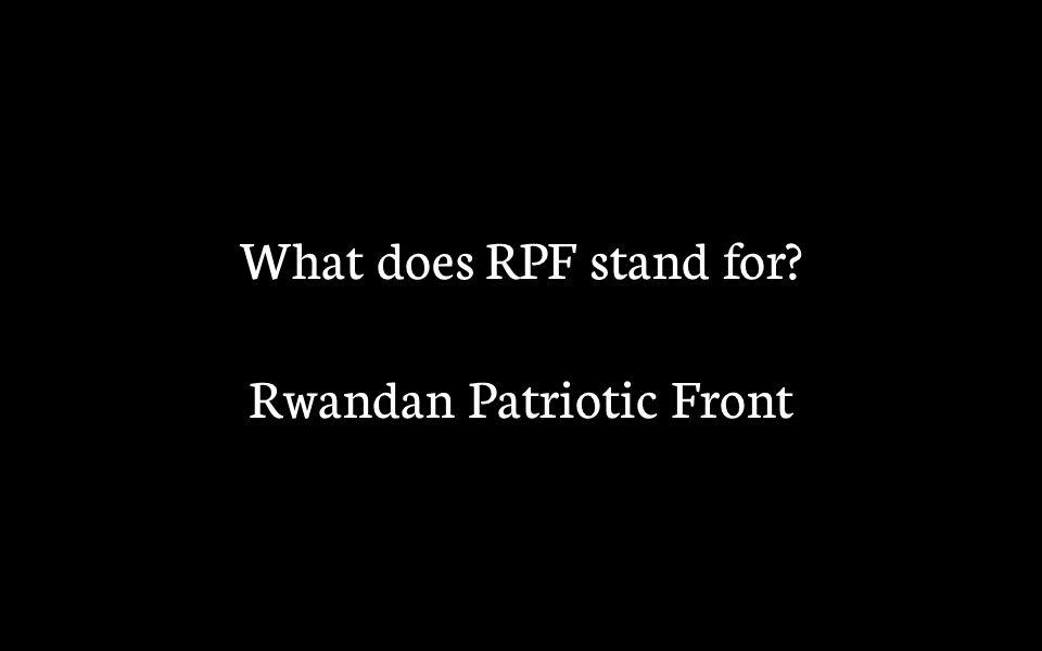 Rwandan Patriotic Front