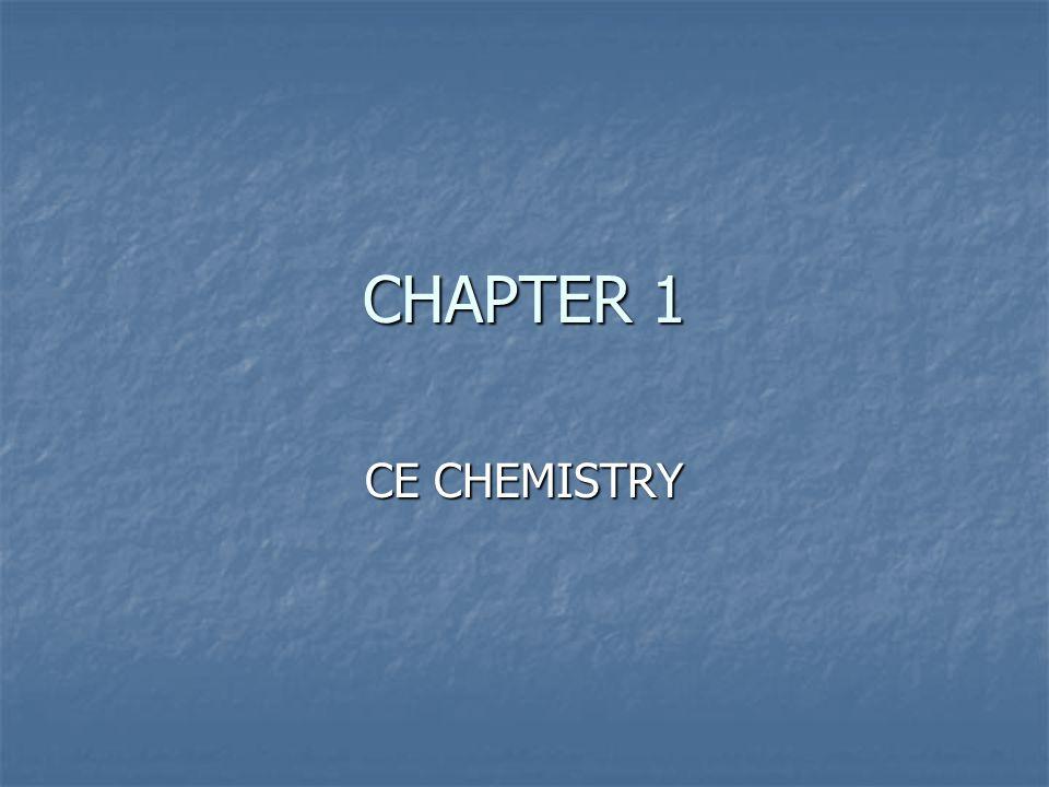 CHAPTER 1 CE CHEMISTRY