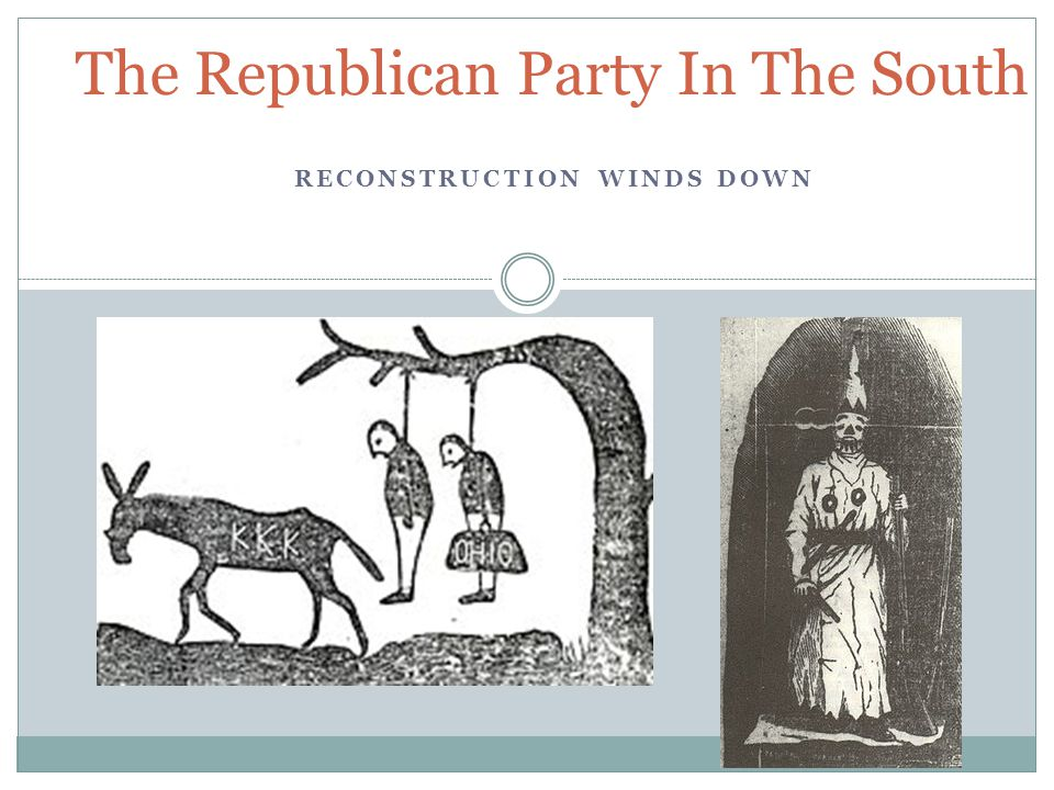 Republican Success.Their strength was tied to the number of freedmen voting.