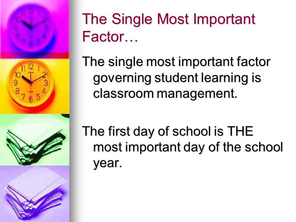 EFFECTIVE VS.INEFFECTIVE Effective teachers MANAGE their classrooms.