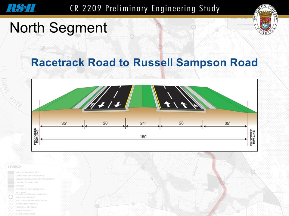 North Segment Racetrack Road to Russell Sampson Road