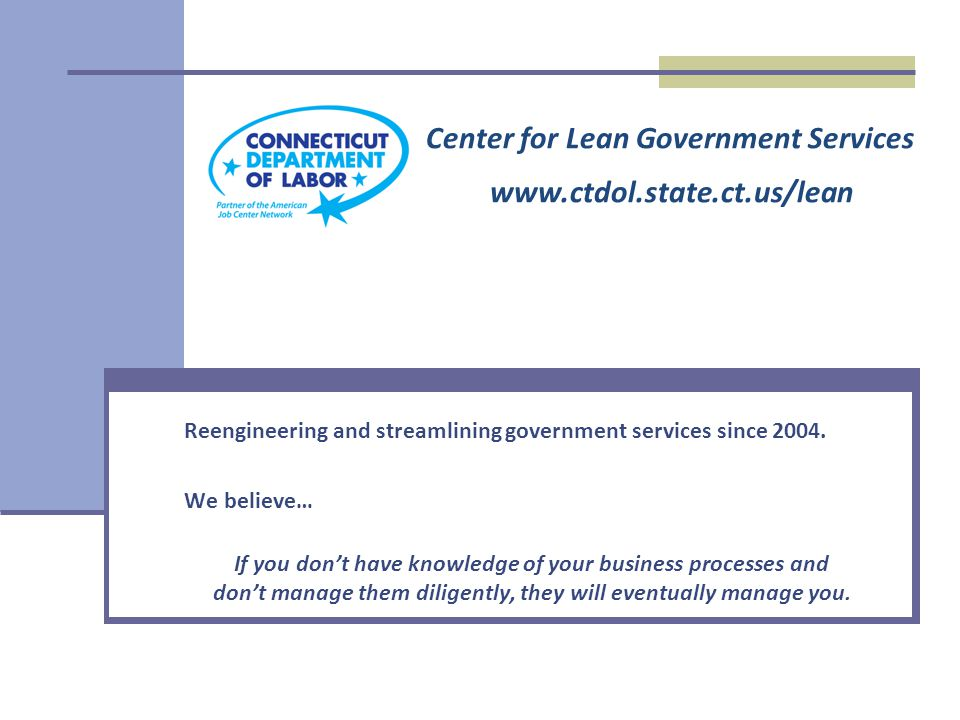 Reengineering and streamlining government services since 2004.